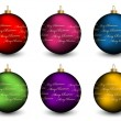 Christmas balls — Vector de stock #11494589