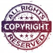 Damaged copyright stamp — Stock Vector