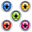 Glossy download buttons — Stock Vector