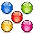 Vector de stock : Glass spheres