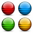 Glass spheres — Stock Vector
