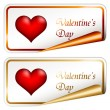 Valentine stickers — Stock Vector