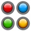 Vintage glossy buttons — Stock Vector #11495229