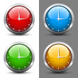 Clock faces - Stock Vector