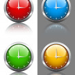 Clock faces — Vettoriali Stock