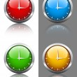 Clock faces — Image vectorielle
