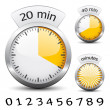 Stock Vector: Timer - easy change time every one minute
