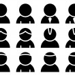 Black person icons — Vector de stock #11495403