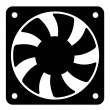 Stock Vector: Computer fan