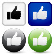 Thumbs up buttons — Stock Vector