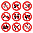 No allowed marks — Stock Vector