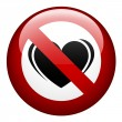 No love mark — Stock Vector
