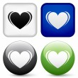 Heart buttons — Stock Vector
