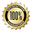 Satisfaction guaranteed label — Stock Vector