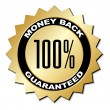 Money back guaranteed label — Stock Vector