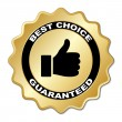 Best choice guaranteed label — Stock Vector #11495538