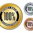 Money back guaranteed labels — Stock Vector