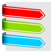 Arrow ribbon signs — Stock Vector