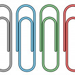 paperclips — Stock Vector