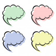 speech bubbles — Stock Vector