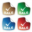Sale colored stickers — Stock Vector