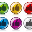 Thumbs up buttons — Stock Vector #11495981
