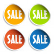 Sale sign stickers — Stockvectorbeeld
