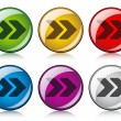 Arrow buttons — Stock Vector