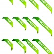 Vector de stock : Promotional ribbons