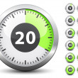 Timer - easy change time every one minute — Vector de stock #11496376