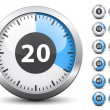 Timer - easy change time every one minute — Stok Vektör