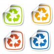 Royalty-Free Stock Vector Image: Recycle stickers
