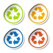 Recycle stickers — Stock Vector #11496425