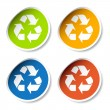 Recycle stickers — Stock Vector #11496426