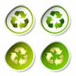 Recycle stickers — Stock Vector
