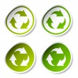 Royalty-Free Stock Vector: Recycle stickers