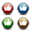 Thumb up buttons — Stock Vector