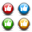 Stock Vector: Thumb up buttons