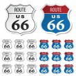 Historic route 66 stickers — Vettoriali Stock