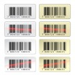EAN barcode stickers — Stock Vector