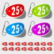 Discount percent labels — Stock Vector