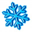 Snowflake symbol - Stock Vector