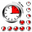 Stock Vector: Simple timers