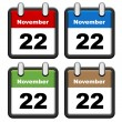 Simple calendars — Stock Vector