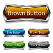Stock Vector: Shiny chrome web buttons
