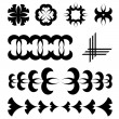 Black design tattoo elements - Stock Vector