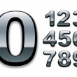 Stock Vector: Chrome numbers