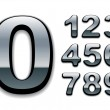 Chrome numbers - Stock Vector