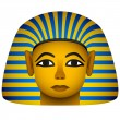 Golden mask of the egyptian pharaoh — Stock Vector