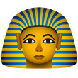 Stock Vector: Golden mask of the egyptian pharaoh